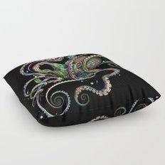 Octopsychedelia (black) Floor Pillow