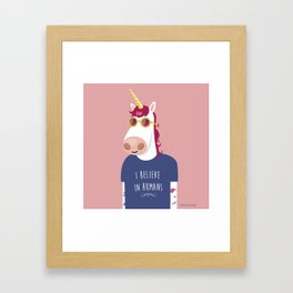 I believe in Humans Framed Art Print