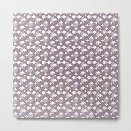 Sea of Cortez Lavender Grey Rays Pattern Metal Print