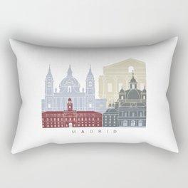 Madrid V2 skyline poster Rectangular Pillow