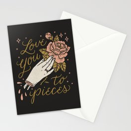 Love You to Pieces Stationery Cards