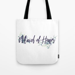 Maid of Honor Watercolor Tote Bag