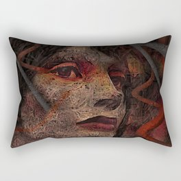 Shell - Cyborg Portrait Rectangular Pillow