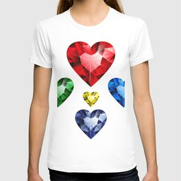 Multi-colored hearts T-shirt