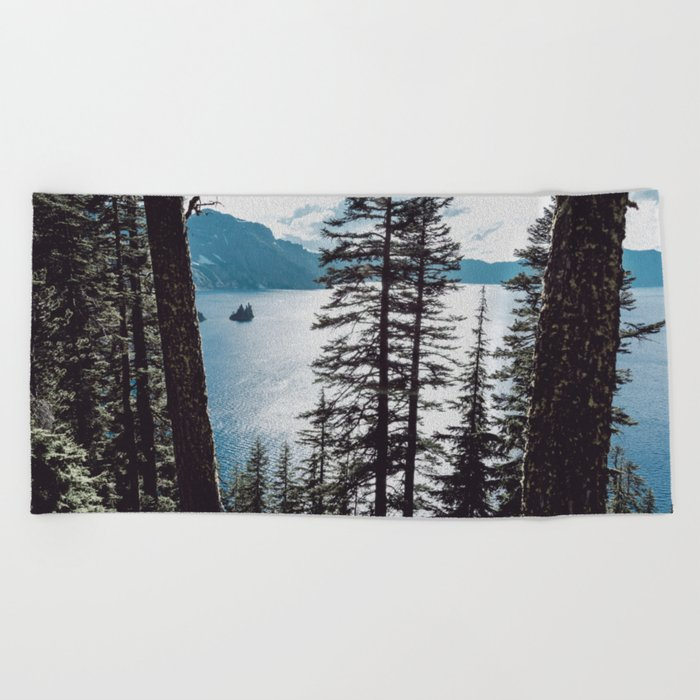 Mountain Lake Retreat Beach Towel
