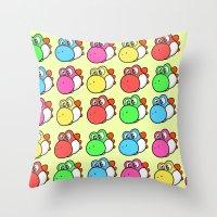 yoshi Throw Pillows featuring yoshi by zamii070