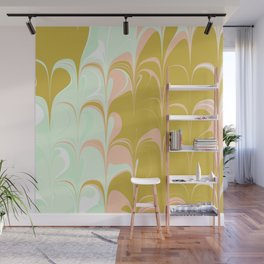 Abstract in Ice Cream Colors Wall Mural