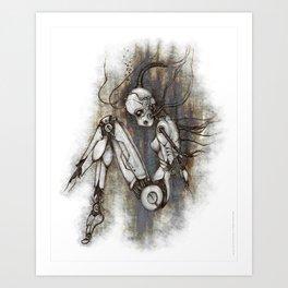 Myisa - Broken Mech Girl Art Print