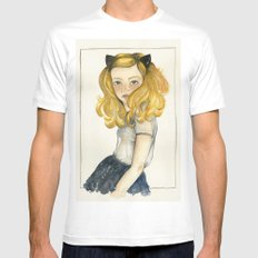 Olivia and the Halloween White Mens Fitted Tee MEDIUM