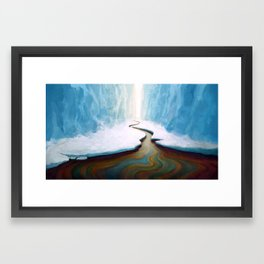 Ice and Oil Framed Art Print
