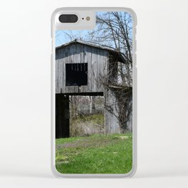 Old Indiana Barn Clear iPhone Case