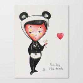 Play Boy Man Panda Canvas Print