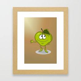 Happy apple Framed Art Print