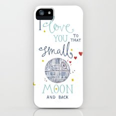 Star Wars 'I Love You To That Small Moon & Back' Watercolour Illustration Slim Case iPhone (5, 5s)