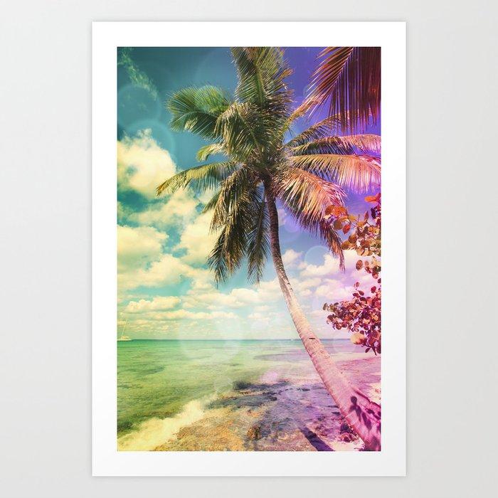 Prismatic Palm Art Print