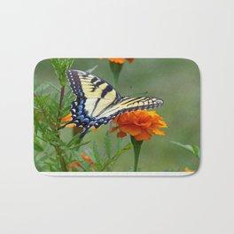 Yellow female Eastern Tiger Swallowtail  Bath Mat