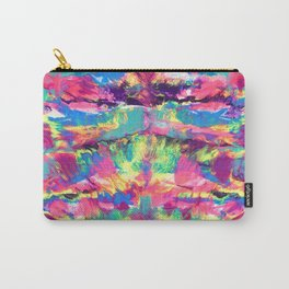Rainbow Abstract Rorschach Style Painting Carry-All Pouch