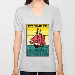 It's Time to Sail Unisex V-Neck