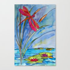 Stained Glass Dragonfly Canvas Print