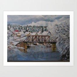 Cold & Snowy Art Print