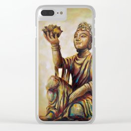 """""""The Offering Of The Six Devas - Flowers"""" Clear iPhone Case"""