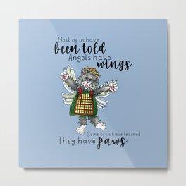 Angel Paws Metal Print