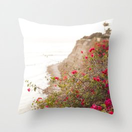 Seaside Bougainvillea Throw Pillow