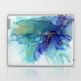 Electric Waves Violet Turquoise - Part 2 Laptop & iPad Skin