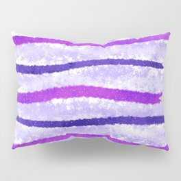 Purple and Pink Wavy Lines Abstract Painting Pillow Sham