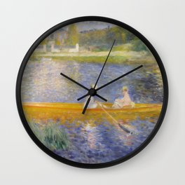 The Skiff (La Yole) by Pierre-Auguste Renoir Wall Clock