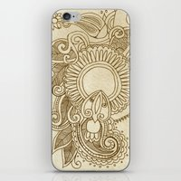 henna iPhone & iPod Skins featuring henna by Julia Loring
