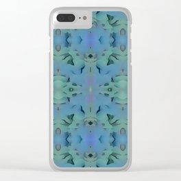 Deep Style Digital Pattern and Butterfly 13 Clear iPhone Case