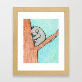 Sleepy Koala Framed Art Print