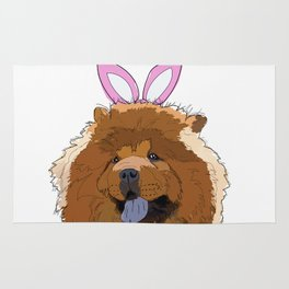 Happy Easter - Chow Chow Rug
