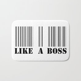 like a boss barcode Bath Mat