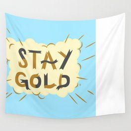 Stay Gold Print Wall Tapestry