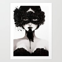 la Art Prints featuring La veuve affamee by Ludovic Jacqz