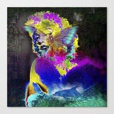 Marilin butterfly dolphin  Canvas Print