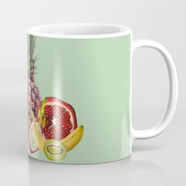 Fresh Fruits summer Selection - turquoise Coffee Mug