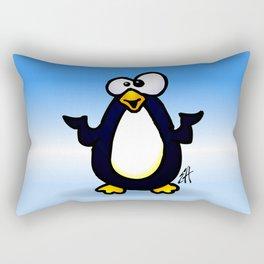 Pondering Penguin Rectangular Pillow