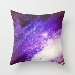 Violet Infinity // Solar Storm // Purple Nebula Throw Pillow