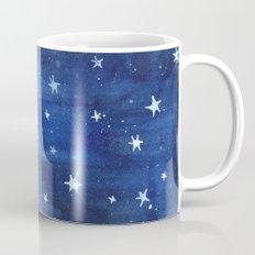 Midnight Stars Night Watercolor Painting by Robayre Mug