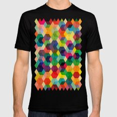 Hexagonzo Mens Fitted Tee Black MEDIUM