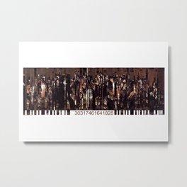 Barcode 13. Metal Print