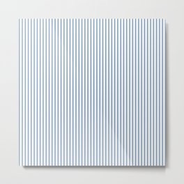 Light blue ticking stripes Metal Print