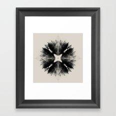 Black Flower Framed Art Print