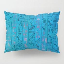 Ancient egyptian blu Pillow Sham