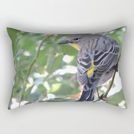 Audubon's Warbler in the Rose Vine Rectangular Pillow