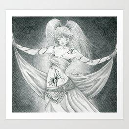 Ritual dancer Art Print