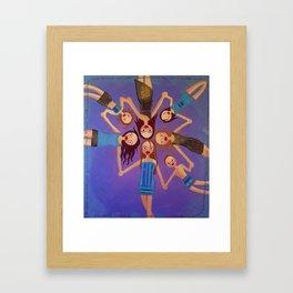 friends and kids Framed Art Print